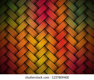 Colorful vector background. Bamboo mat rug texture.