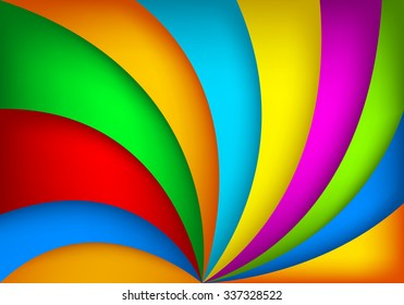 Colorful vector background gradient tone circle loop paper overlap layer for background design