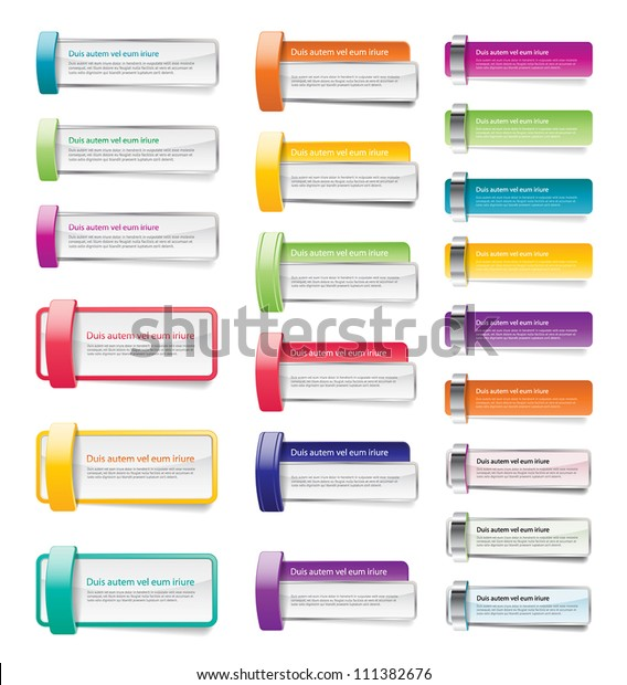 Colorful vector banner / badge / sticker collection