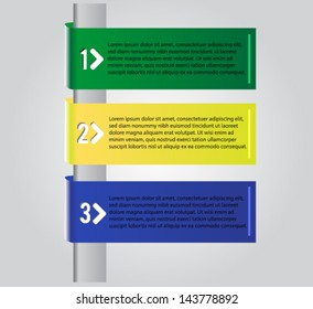 Colorful vector banners/ 1 2 3 steps