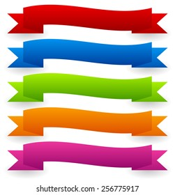 Colorful Vector Banners - Wavy, Waving version