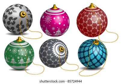 Colorful Vector Christmas bauble