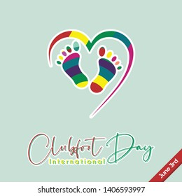 Colorful Vector Design for Clubfoot Day on June 3rd
