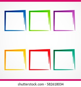 Colorful vector frame banners