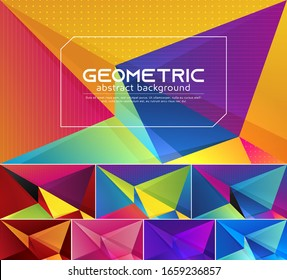 Colorful vector geometric abstract background. Applicable for web background, design element ,wall poster, landing page, wall paper, and social media element
