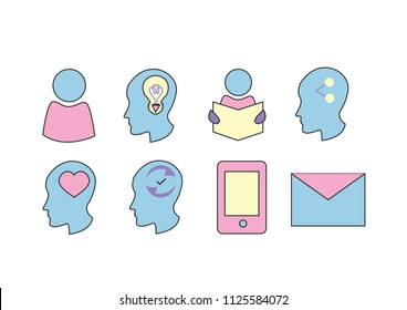 colorful vector icons for cv resume