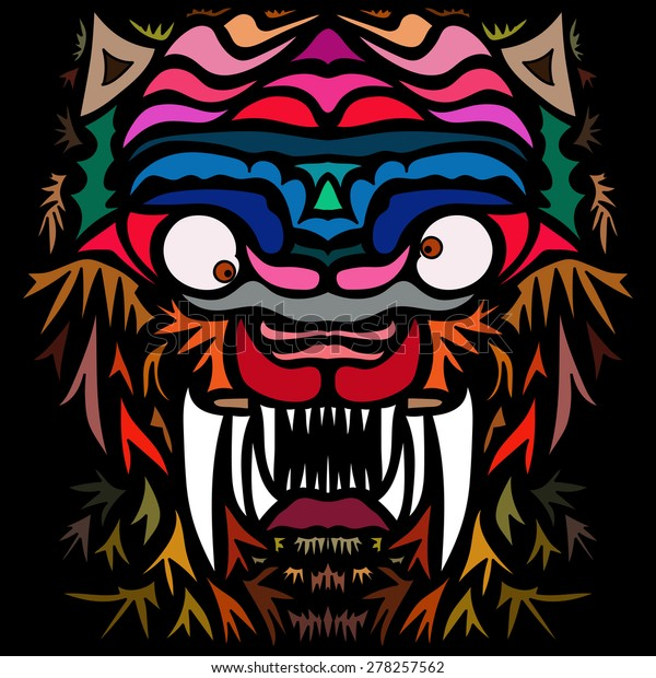 Free Tiger Abstract Art
