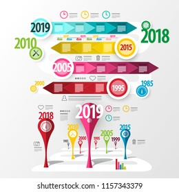 Colorful Vector Infographic Design. Timeline Infographics.