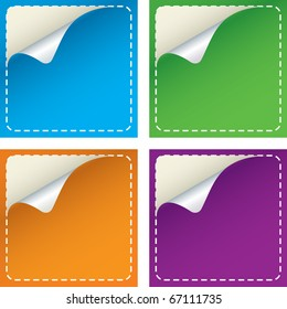 Colorful Vector Promotional Sticker Set