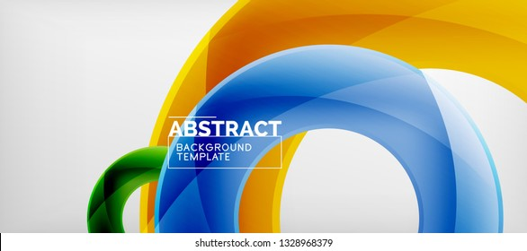 Colorful vector rings geometric abstract background, modern geometric pattern design. Business or technology presentation design template, brochure or flyer pattern, or geometric web banner, minimal
