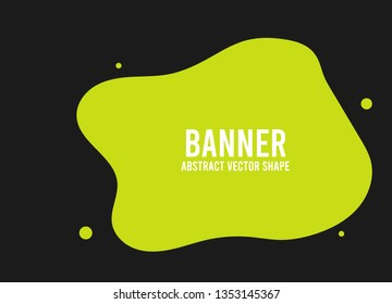 Colorful vector shape. Abstract vector banner template. Vector design element.