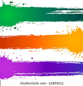 Colorful vector splat banners