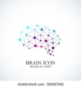 Colorful Vector Template Brain Logo. Creative concept design icon.