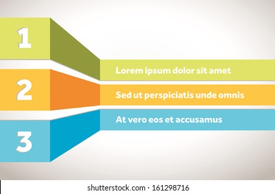 Colorful vector template for indices or table of contents