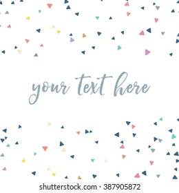 Colorful Vector Triangles Scattered Confetti