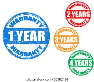 colorful vector warranty stamps set
