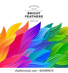 Colorful Vector Waves. Beautiful Rainbow Borders. Gradient Background. Multicolor Summer Illustration. Template Modern Graphic Concept.
