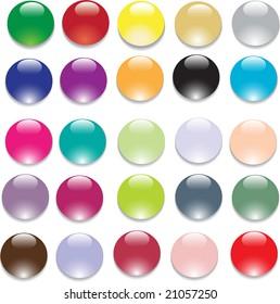 colorful vector web bubbles