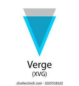 Colorful verge cryptocurrency symbol isolated on white background