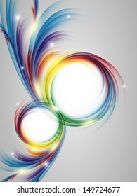 colorful vertical vector template with swirls. Eps10