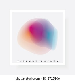 Colorful vibrant gradient abstract energy blur