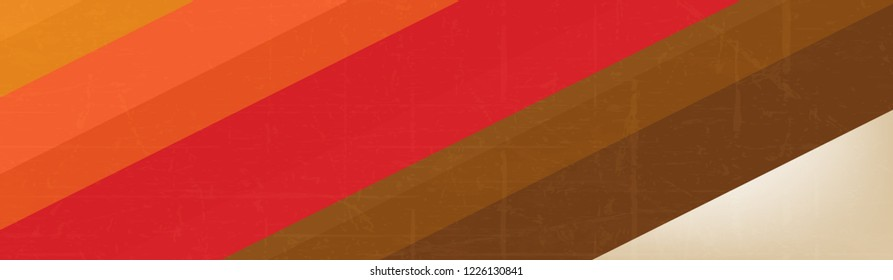 Colorful Vintage Abstract Line Background, Retro Design Banner.