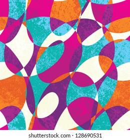 Colorful vintage vector pattern