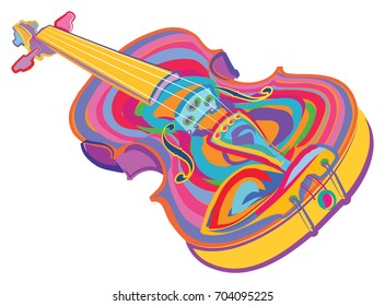 Colorful Violin