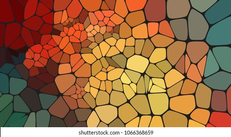 Colorful voronoi abstract 2D geometric background