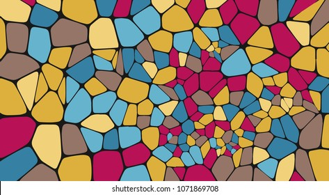 Colorful voronoi abstract geometric background