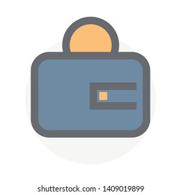 Colorful wallet vector icon. Payment symbol, trendy, ui element you can use for a new project, website, add to presentation slide, mobile app, etc.