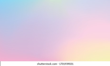 Colorful wallpaper gradient. Sherbet color background material vector illustration