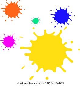 colorful water splash illustration design