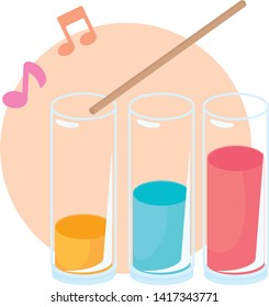 Colorful Water Xylophone Science Experiment