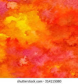 Colorful watercolor background, abstract watercolor texture, hand drawn watercolor wash, vector illustration