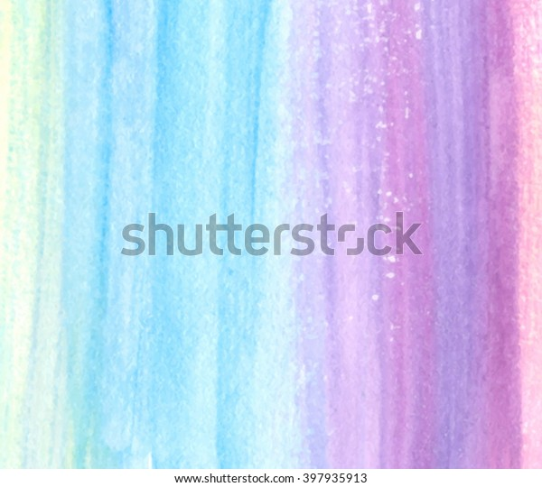Colorful Watercolor Hand Drawn Striped Paper Stock Vector
