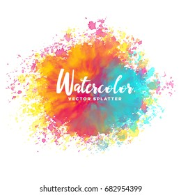 colorful watercolor splash vector background