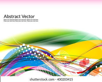 colorful wave abstract design template vector illustration