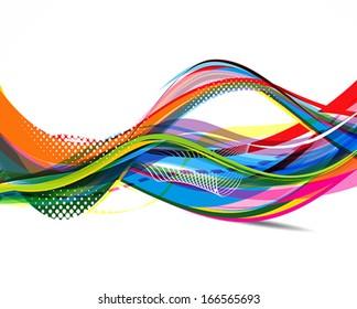 Colorful Wave Background vector illustration