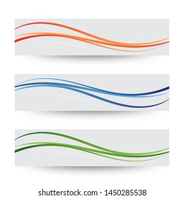 colorful wave. orange, blue, green color. abstract vector background.  layout for presentation or advertising