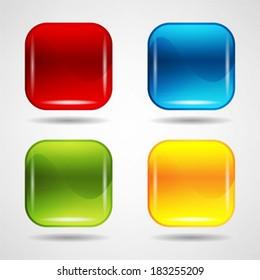 colorful web buttons set