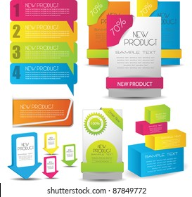 colorful web designing elements