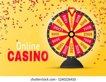 Colorful wheel of luck or fortune infographic.  Online casino concept.Vector illustration EPS10