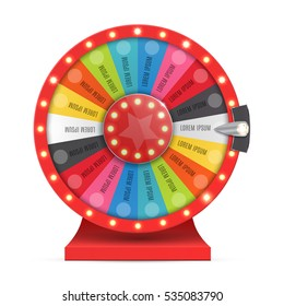 Colorful wheel of luck or fortune infographic. Vector illustration