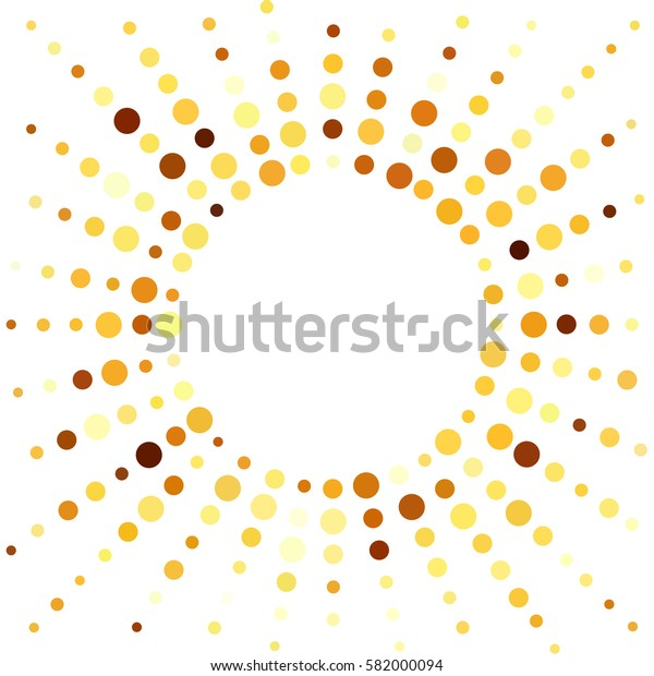 Colorful white background with colored dots.  Round. Colored template with circles. Clean space for your design or headline