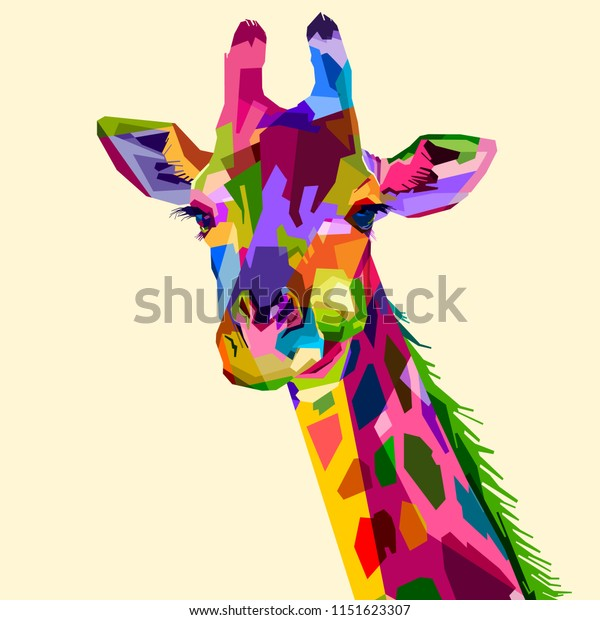 colorful wildlife mammal fauna giraffe