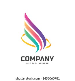 colorful wing logo for business