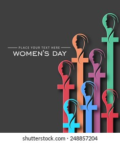 Colorful Woman's day Background - Vector Design Concept