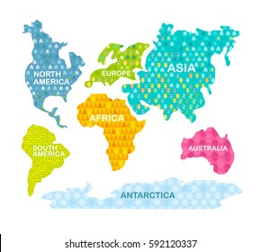 Kids World Map Wallpaper Images, Stock Photos & Vectors | Shutterstock