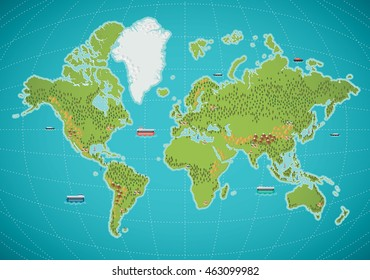 World map vector relief images stock photos vectors shutterstock colorful world map vector illustration gumiabroncs Images